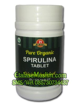 Pure Organic Spirulina Isi 100 Tablet Herbal 21