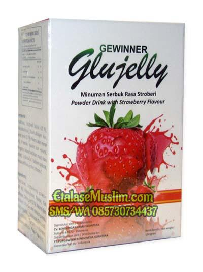 GEWINNER Glujelly (Minuman Serbuk Rasa Stroberi Powder Drink with Strawberry Flavour) 150 gr