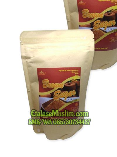 Gula Aren Bronsu Brown Sugar 250 Gr kemasan pouch