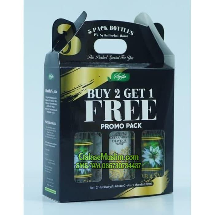 PROMO PACK HABBASYIFA 60 ML BUY 2 GET 1 FREE ZAITUN MUMTAZ 60 ML