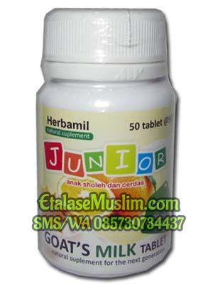 Herbamil Junior Goats Milk Tablet rasa Jeruk