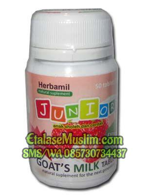 Herbamil Junior Goats Milk Tablet rasa Strawberry